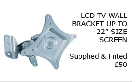 "LCD Tv Wall Bracket Upto 22"" - Fitted and Installed"