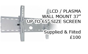 "LCD Plasma fitted Wall Mounts from 37£ upto 65"" - Fitted in Skegness and Lincolnshire"